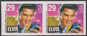 #2721a ELVIS  IMPERF PAIR MAJOR ERROR - NO HOLES  5-6 EXIST EXT. RARE!!! HV177