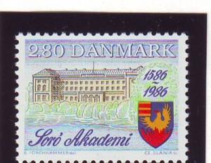 Denmark Sc 816 1986 400 Years Soro Academy stamp mint NH