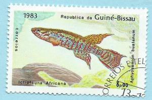 Guinea-Bissau Scott #503 Local Fish CV $0.20 CTO NH