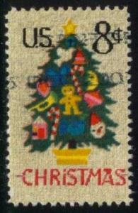US #1508 Christmas Tree in Needlepoint, used (0.20)