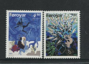 STAMP STATION PERTH Faroe Is.#321-322 Pictorial Definitive Iss.MNH 1997 CV$4.00