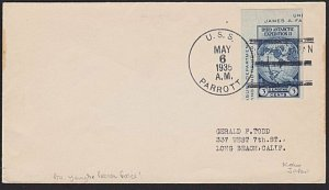 USA CHINA 1935 cover USS Parrott - Yangtse Patrol Forces....................6399