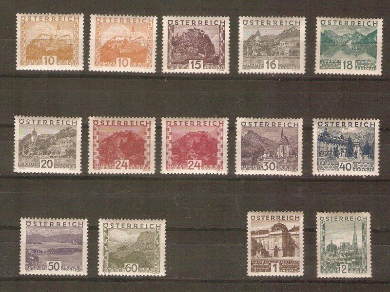 Austria 1929-30 definitives mint NH, cpl.