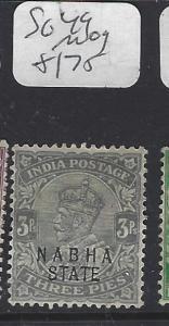 INDIA  NABHA  (P2410B)   KGV   3P    SG 49        MOG