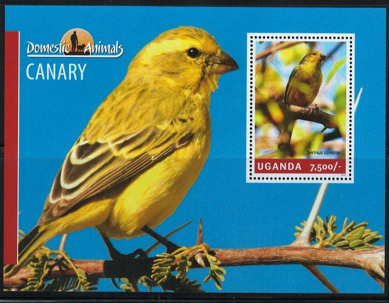 Uganda Scott 2148 MNH! Canary! Souv. Sheet!