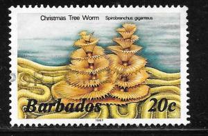 Barbados 645: 20c Christmas Tree Worm (Spirobranchus giganteus), used, VF