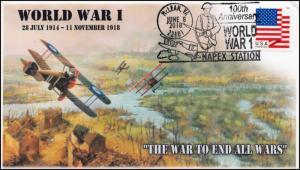 18-304, 2018, World War I, 100 Year Anniv, Pictorial, Postmark, Event Cover