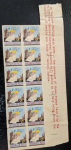 Despair Not Verzweifelt Nicht Central Europe Research Charity Stamps Block of 12