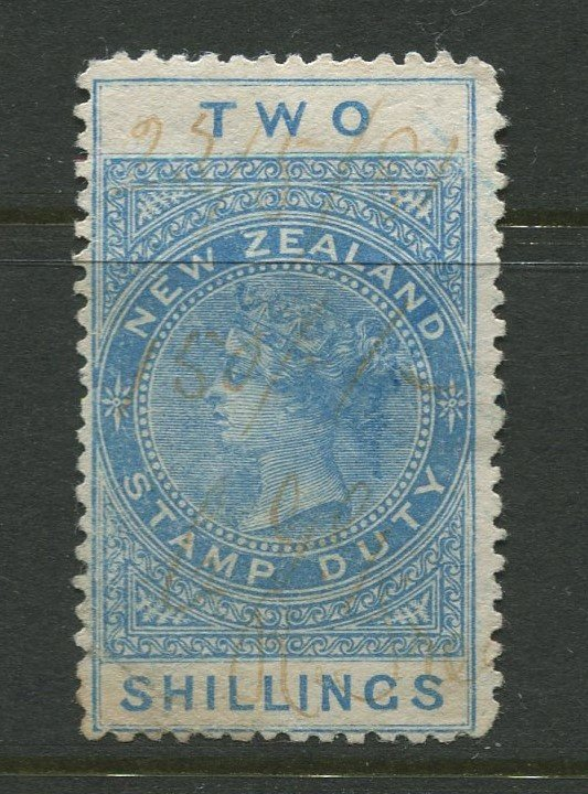 STAMP STATION PERTH New Zealand #AR1 Postal Fiscal Issue Used 1882 CV$20.00
