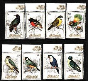 Aitutaki-Sc#323//331-eight unused NH Birds-1984-