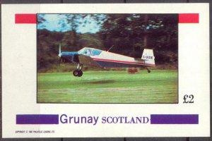 {G029} Grunay Scotland Aviation Airplanes (1) S/S 2£ MNH Cinderella !!