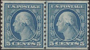 496 Mint,OG,NH... Line Pair.. SCV $65.00