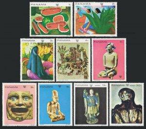 Panama 495-494H,MNH.Michel 1125-1133. Olympics Mexico-1969.Mexican art.