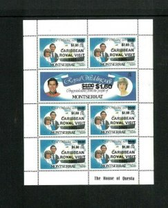Wholesale Lot Montserrat #'s 578x6 & 579x1 Mini Sheet of 7. Cat. 465.00(10x46.50
