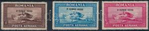 Romania stamp Airplane overprinted set with standing watermark 1930 WS221978