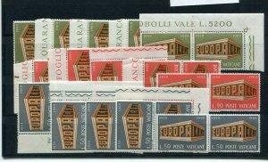 D093786 Europa CEPT 1969 Buildings Wholesale 10 Series MNH Vatican City