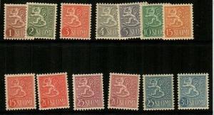Finland Scott 312-23 Mint NH (Catalog Value $55.15)