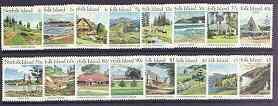 Norfolk Island 1987 Island Scenes definitive set complete...