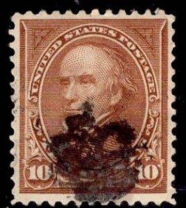 US Stamp #283 10c Brown Webster USED SCV $6.00 Type II