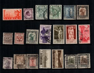 Libya  20 diff  mint hinged and used