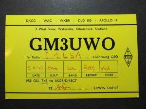 5399 Amateur Radio QSL Card Waterside Kilmarnock Scotland