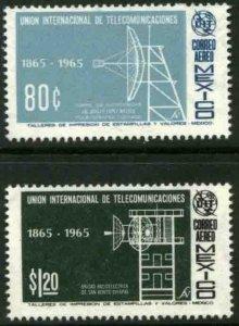 MEXICO C303-C304, Centenary of the I. T. U., MINT, NH. VF.