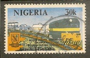Nigeria   Scott 393   Freight Train   Used