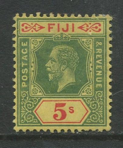 Fiji - Scott 90 - KGV Definitive Issue -1912 -Die I - MH - Single 5/- Stamp