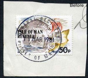 Isle of Man 50p Multicoloured QEII Pictorial Revenue CDS On Piece