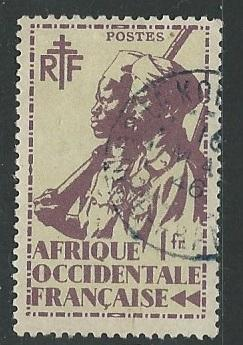 French West Africa + Scott # 24 - Used