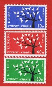Cyprus #219-221 MNH OG  Europa