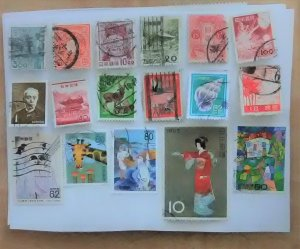 17 stamp mini-collection from Japan.