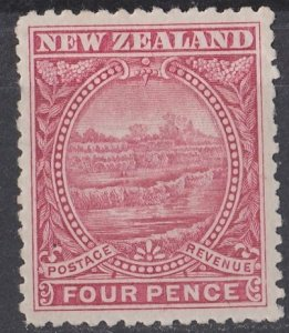 New Zealand White Terraces 1898 Sg 252 4d dull rose MLH