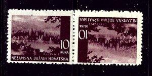Croatia 43a MH 1941 Tete-beche pair