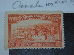 CANADA SCOTT# 102, MNH-DISTURBED GUM
