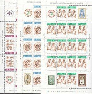 NAURU 1982 75th Anniv Scouts in Nauru - set in complete sheets MNH.........57630