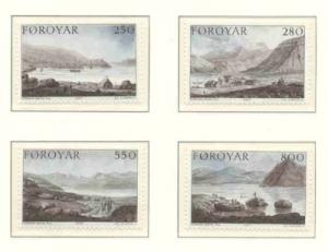 Faroe Islands Sc 121-4 1985 Landscapes stamp set mint NH