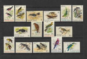 BIRDS - NORFOLK ISLAND #126-140  LH