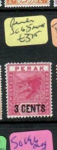 MALAYA PERAK  (P1305BB)  TIGER 3C/2C  SG 65   MNH