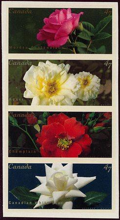 Canada - 2001 47c Self-Adhesive Roses Set mint #1911-14