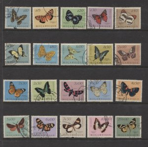 STAMP STATION PERTH Mozambique #364-383 Full Set Butterflies FU