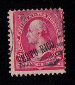 US PUERTO RICO Scott 211 Used Reddish Carmine F-VF