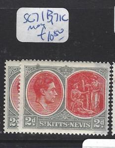 ST KITTS NEVIS  (PP2806B)  KGVI  2D  SG 71B, 71C   MOG