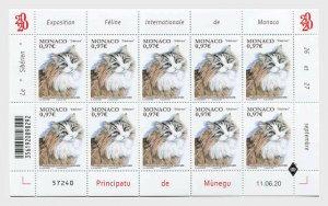 Stamps Monaco 2020. - International Cat Show - Sheetlets