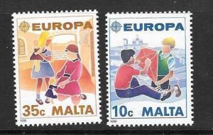 MALTA SG849/50 1989 EUROPA MNH