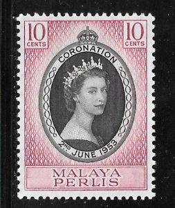 Malaya Perlis 28: 10c Elizabeth II, MH, VF