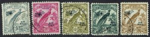 NEW GUINEA 1932 UNDATED BIRD AIRMAIL 3D - 6D USED