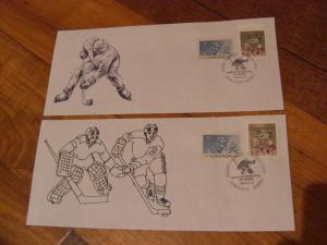 Canada Special Hockey Stamp show cover - Qtt 2 - Goaler - Player --Value$40.00