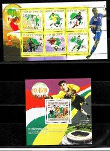 #9025 COMOROS 2010 FOOTBALL SOCCER WORLD CUP SUDAFRICA SET+S/S YV 2029-34BL277