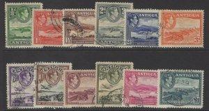 ANTIGUA SG98/109 1938-51 DEFINITIVE SET FINE USED